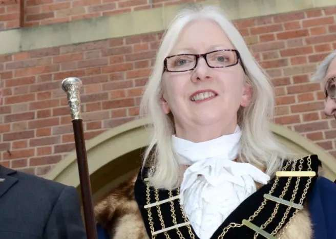 Mayor of Grantham Linda Wootten