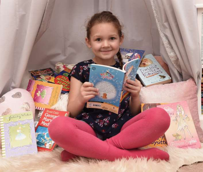 Emilia Smith read 10 books in 10 days to raise enough money for three iPads for the QMC.