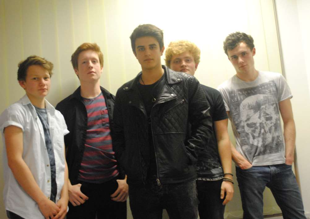 Monochrome Empire members Daniel Bush, Will Jakes, Laurie Rowland, Matt Drinkwater and George Topham.