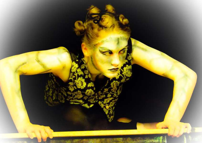 Eleanor Mackintosh performing in Metamorphosis.