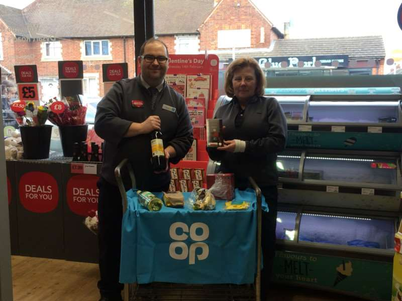 Co op Manager Steve Caughtry and Angela Wilder.