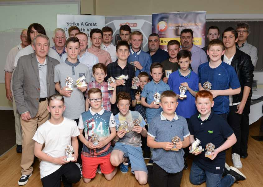 Grantham Town under-13/18 prize presentation evening. Photo: Toby Roberts