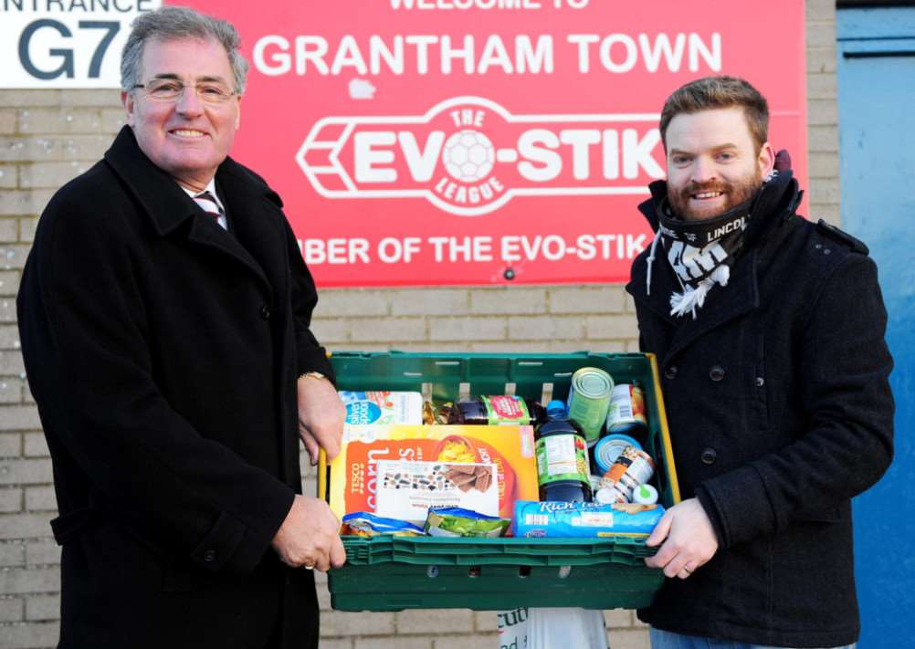Gingerbreads' Grantham Foodbank collection. Photo: Toby Roberts