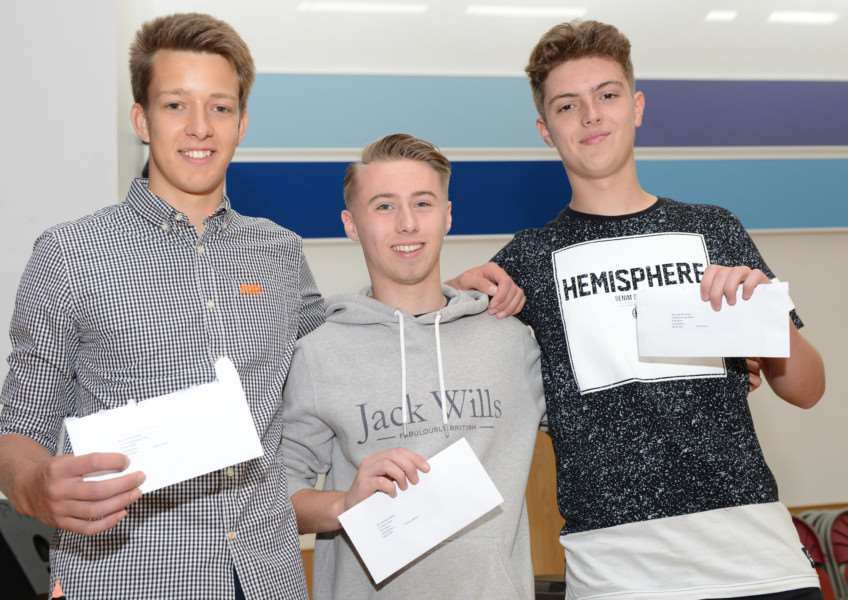 A levels, Priory Ruskin Academy: Adam Clark, Tom Milner and Zak Deane (AS levels)