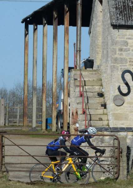 Witham Wheelers reliability riders snapped in the gap of a gate on Sunday. Photo: Alan East
