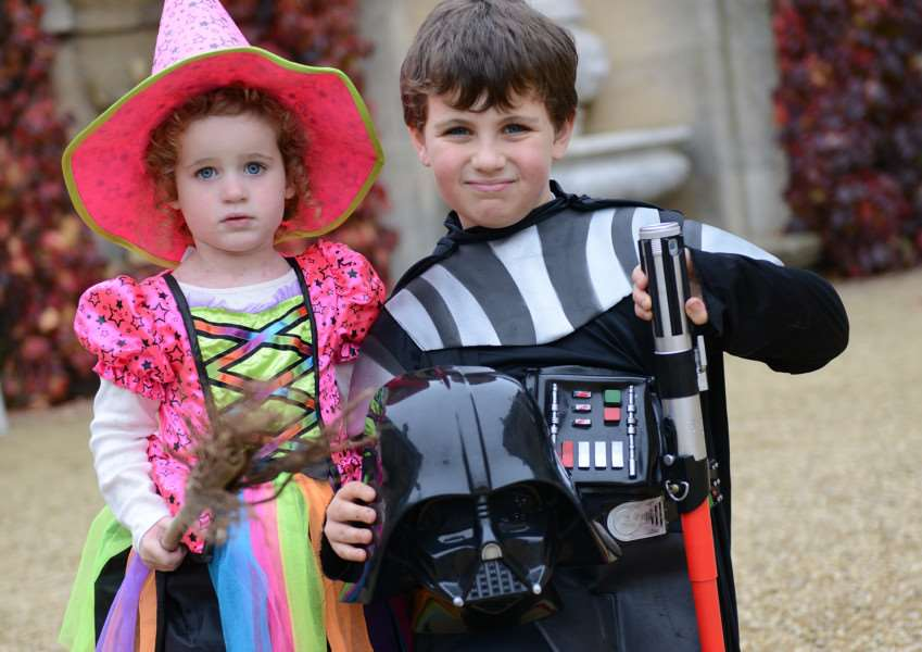 Halloween at Belton House. Pictured are: Francesca and Reed Vickers