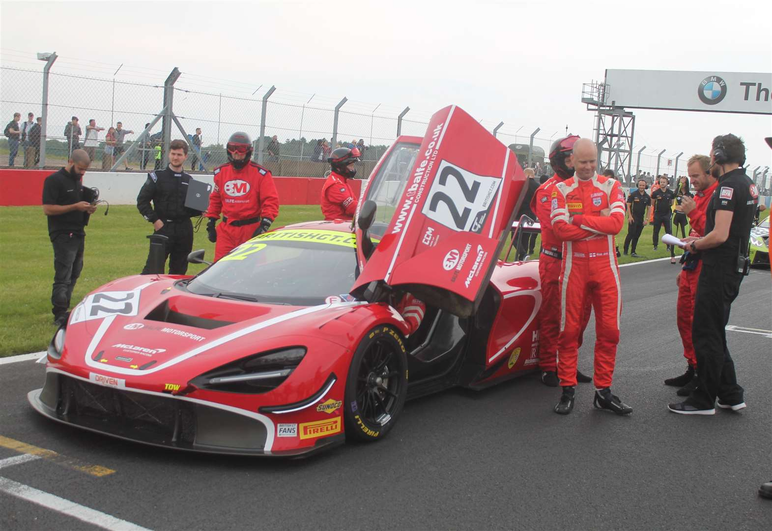 Balfe Motorsport McLaren finishes second in GT Championship race