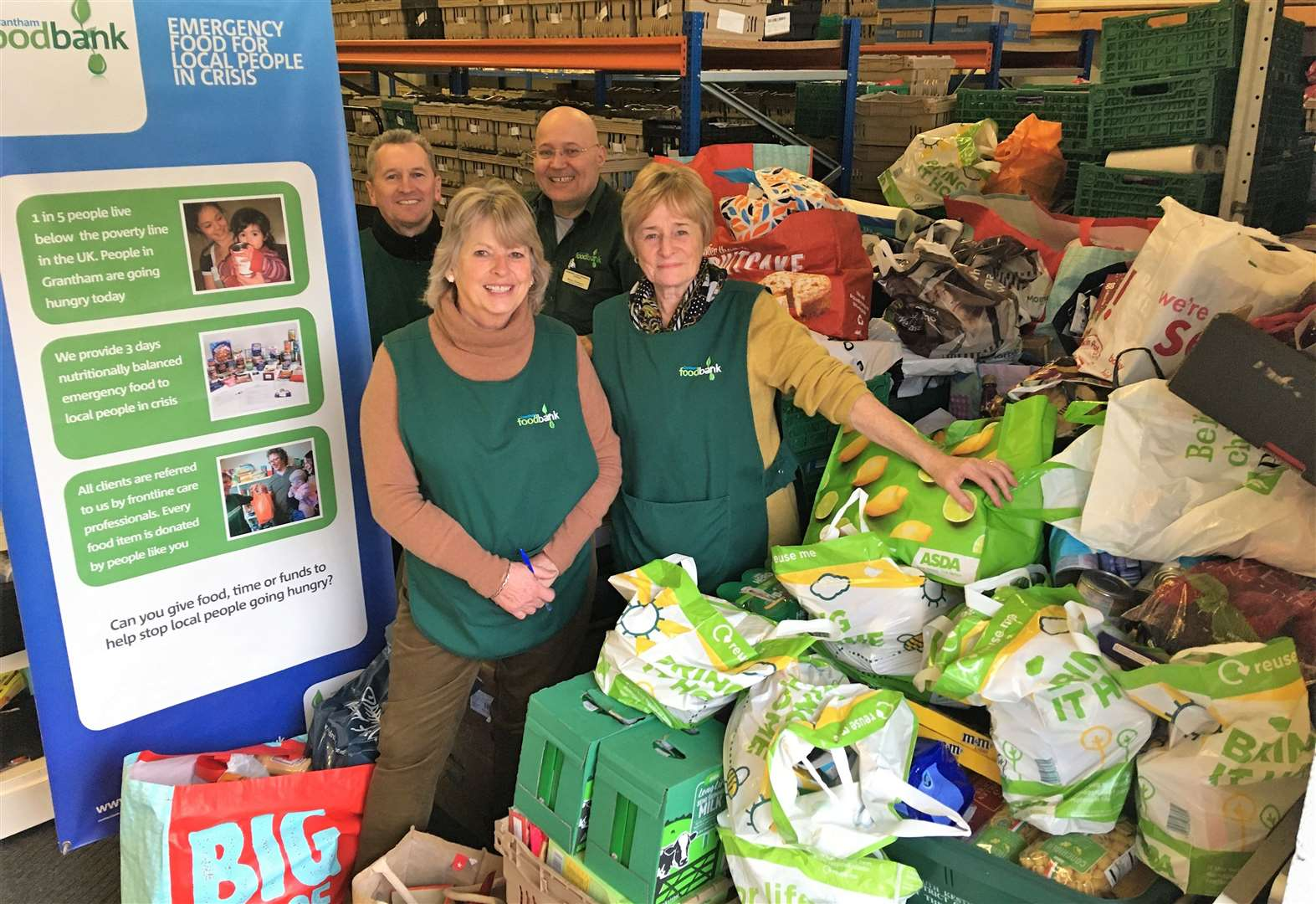 Bumper donation to foodbank by council