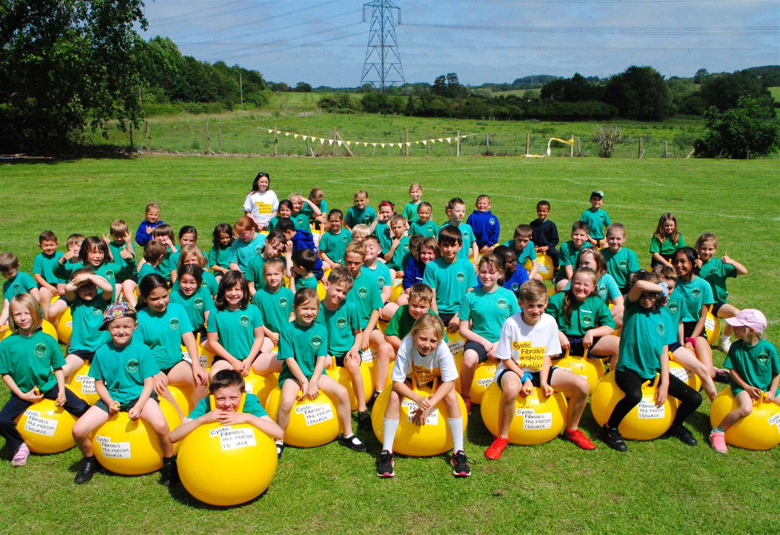 School gets bouncing for Cystic Fibrosis Trust