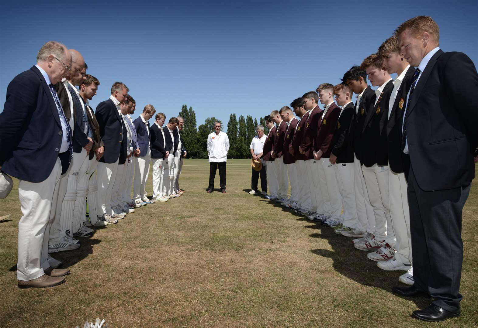 Grantham school's cricket fixture is tinged with sadness