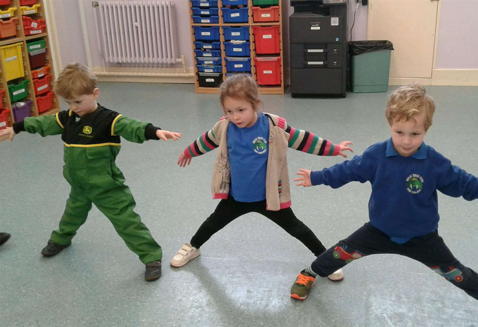 Tots dance their way into Ingoldsby village school