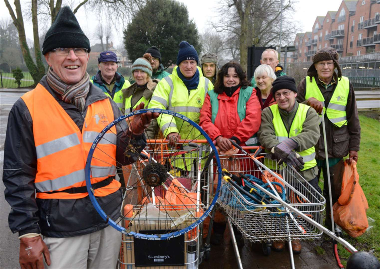 Rubbish weighing in at 170kg collected by Grantham Rivercare volunteers