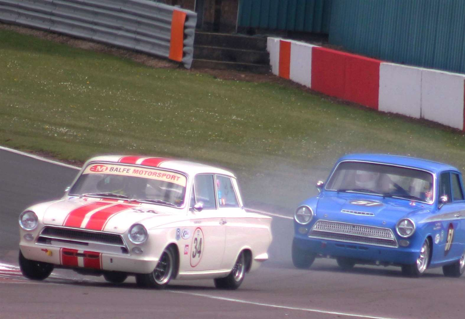 Caythorpe driver Balfe races classic Lotus Cortina to finish on the podium