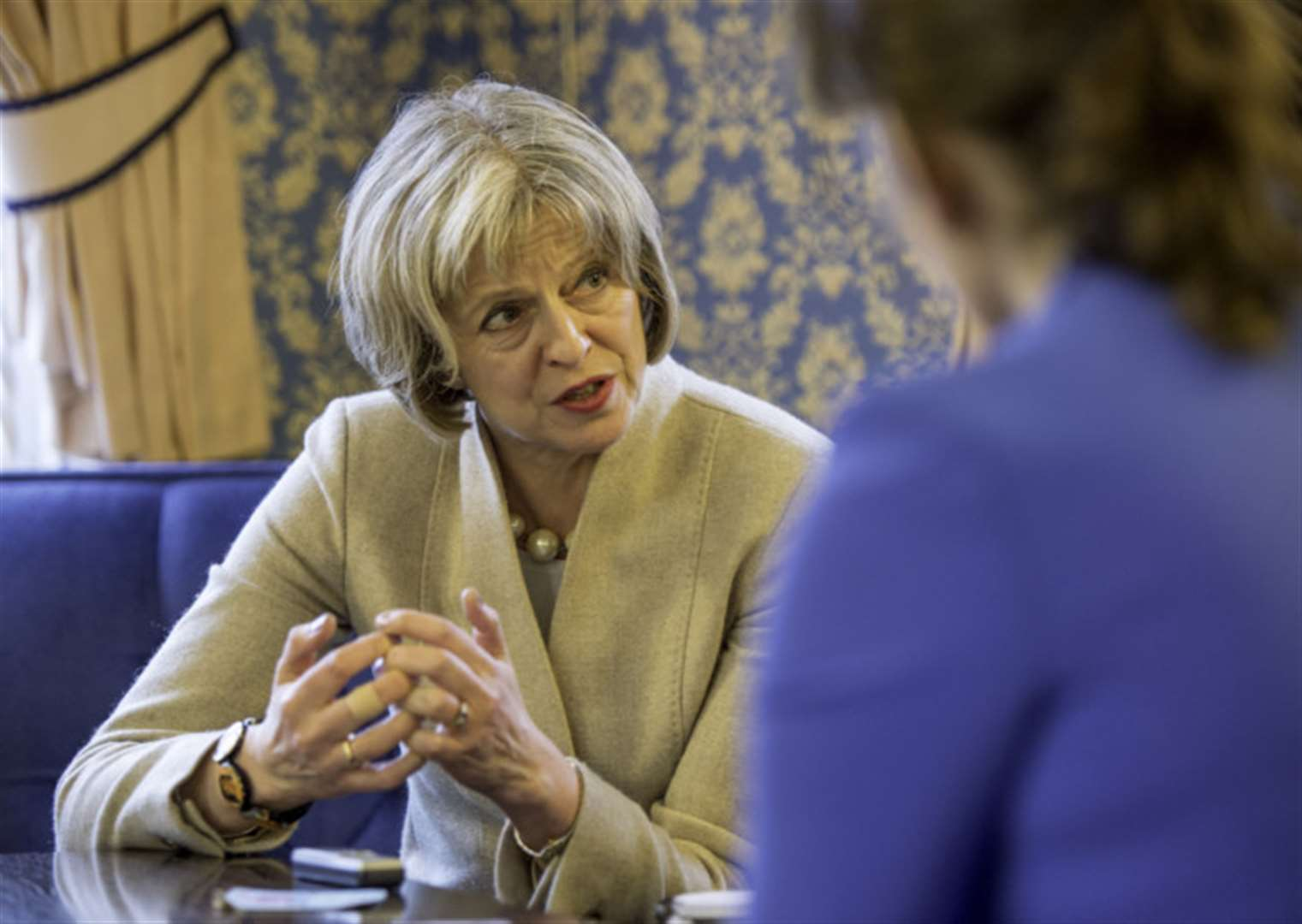 EXCLUSIVE INTERVIEW: Home Secretary Theresa May vows: We'll get tough on immigrants