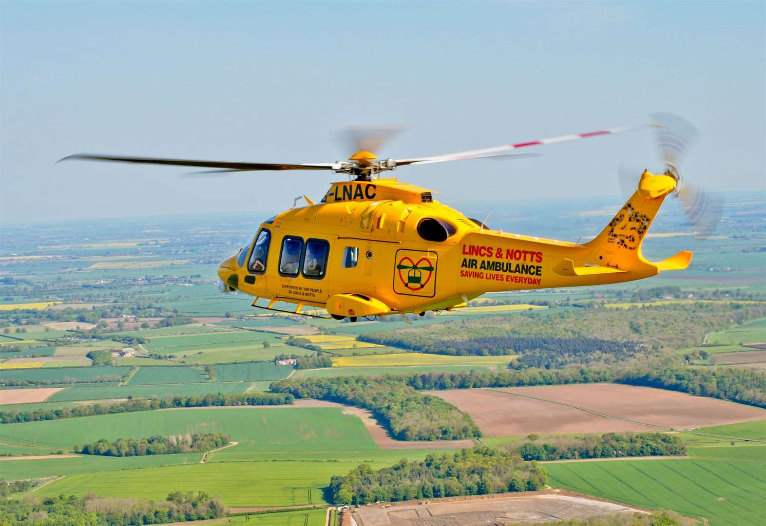 Air ambulance called to medical emergency in Grantham