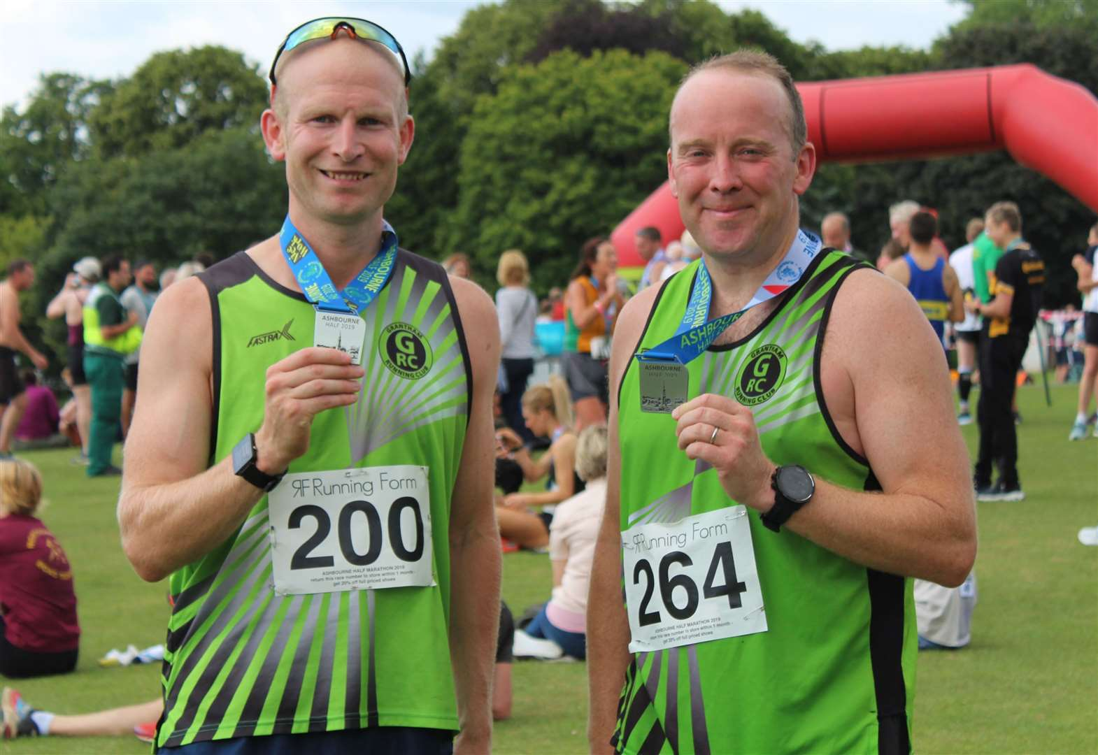 Town club runners Gav and Paul tackle half marathon