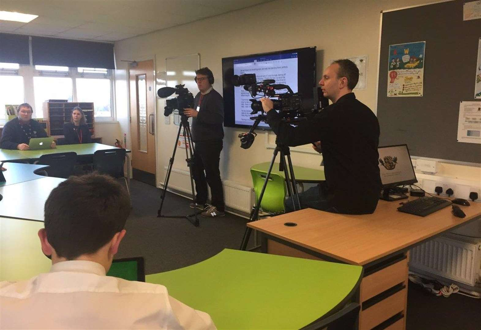 Grantham school filmed for case study on technology in the classroom