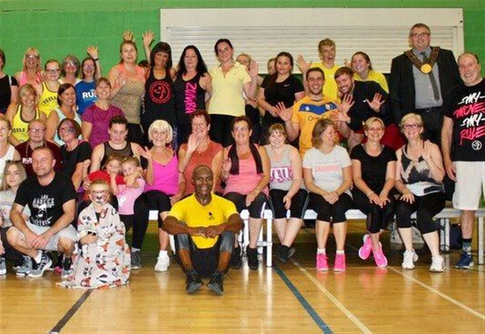 'Record turnout' at Grantham charity zumbathon