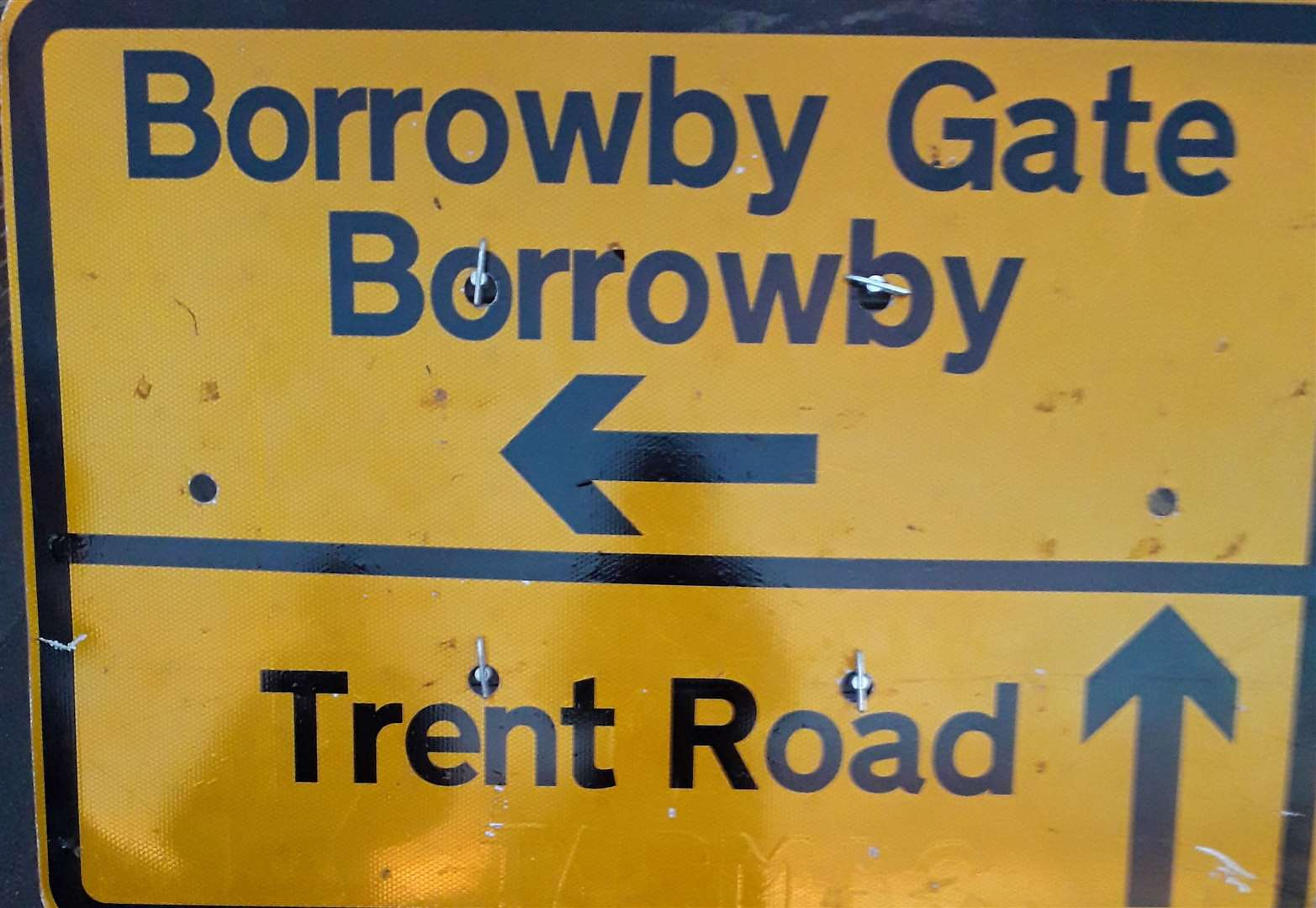 Which way to 'Borrowby Road' in Grantham?