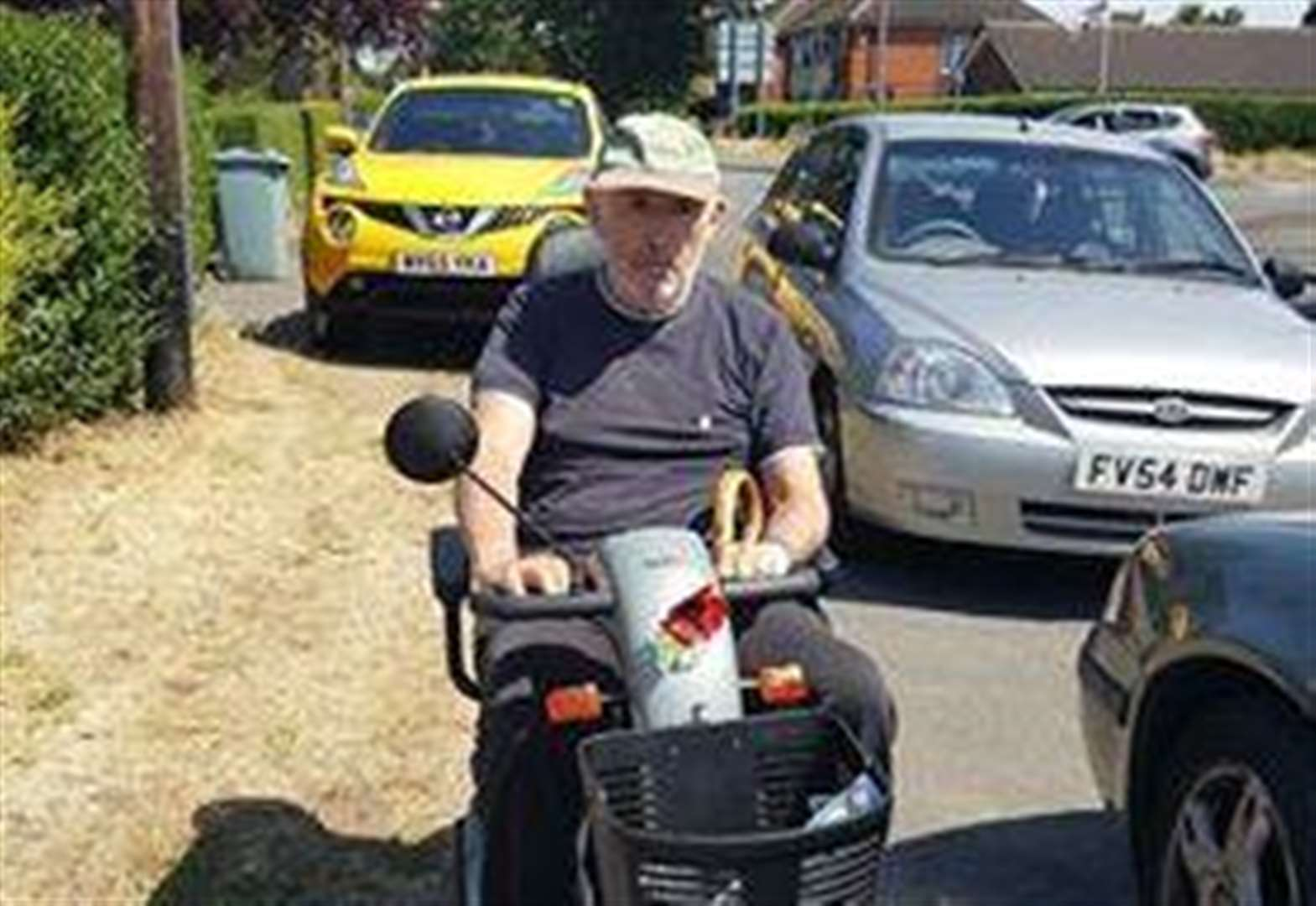 Mobility scooter user appeals for Grantham drivers to park with care