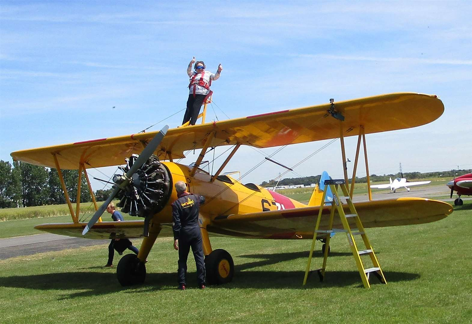 Orston pensioner, 85, takes to the skies in wing walk