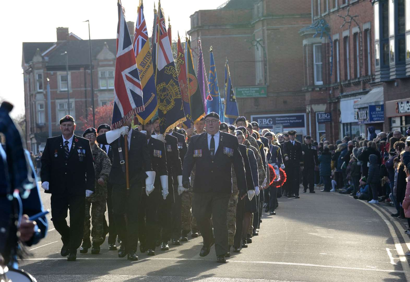 Grantham pays its respects to the war dead on Remembrance Sunday