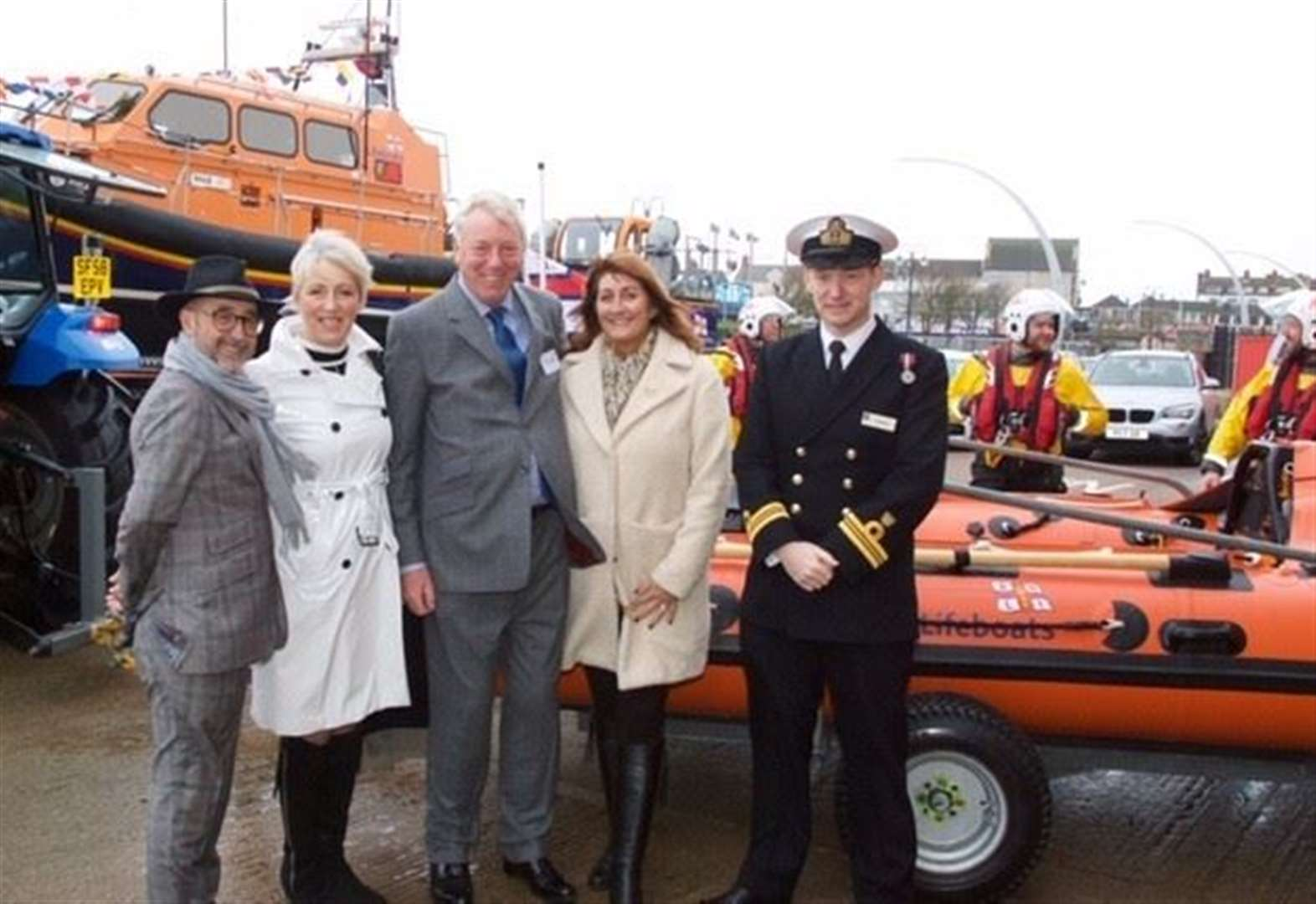 Grantham family funeral director donates lifeboat to RNLI Skegness