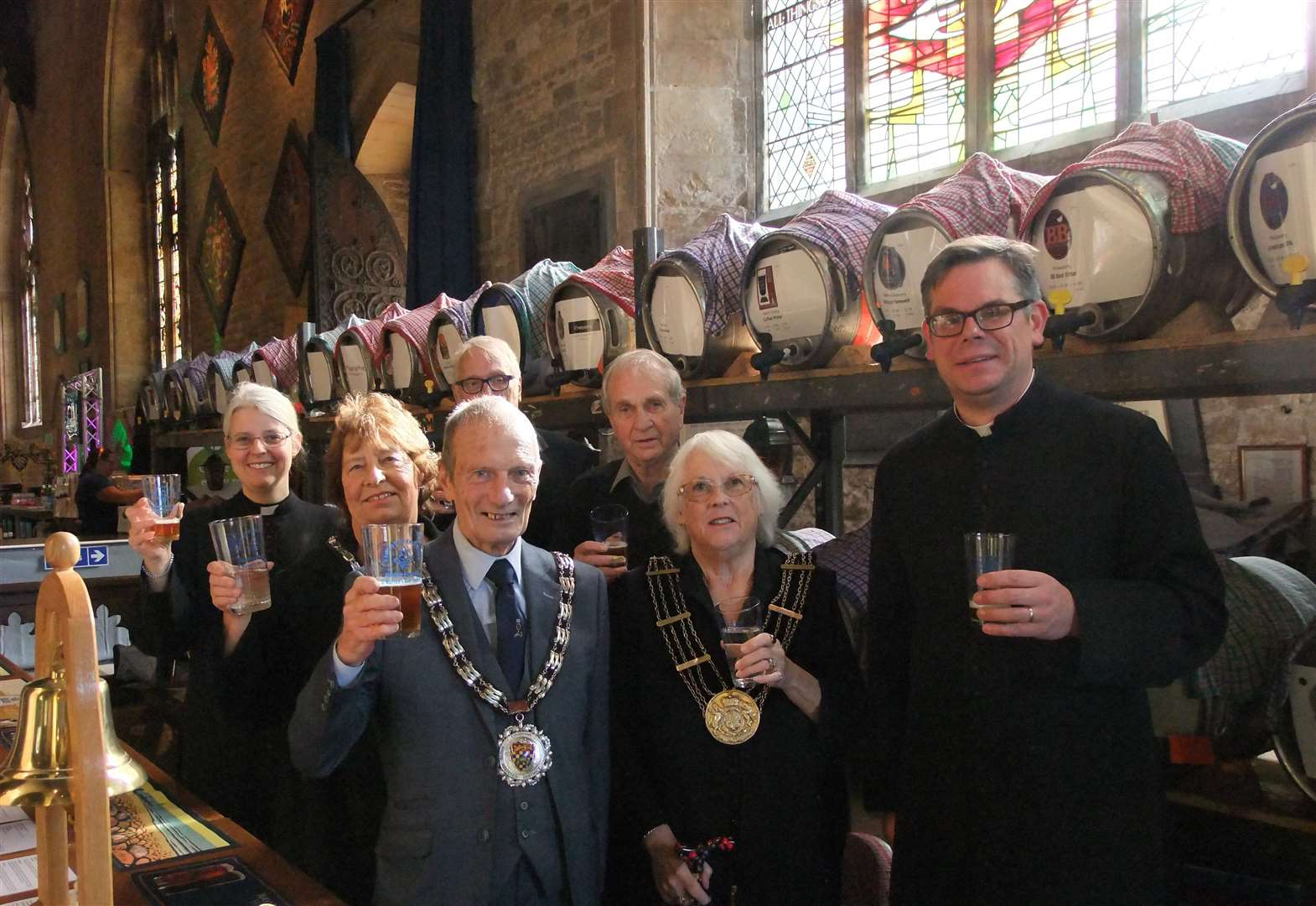 Grantham beer festival is the toast of St Wulfram's