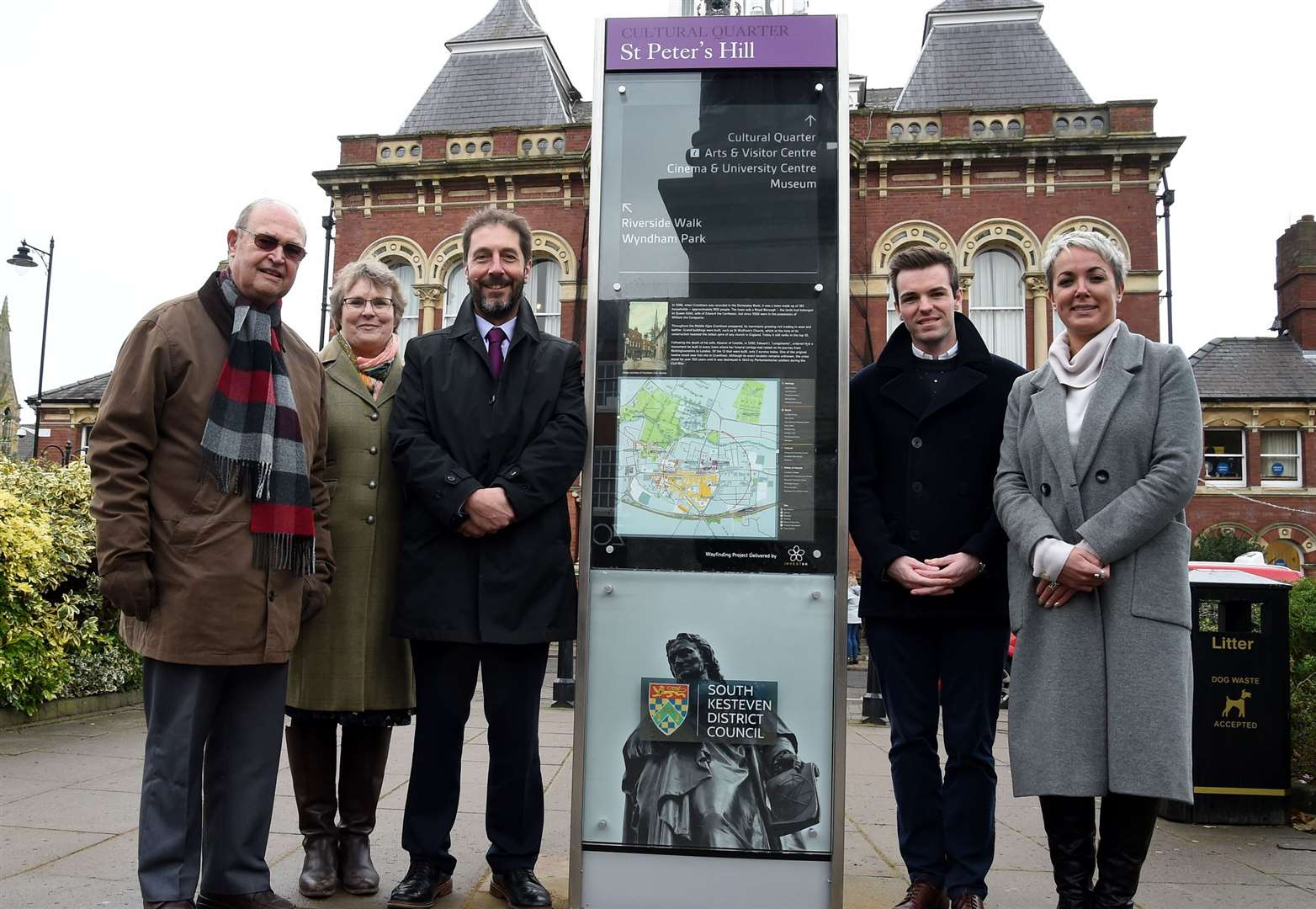New wayfinding boards aim to boost number of visitors to Grantham