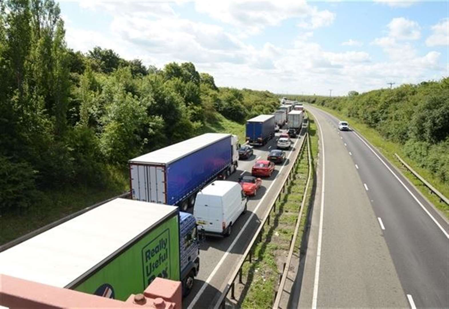 Update: A1 has fully reopened following crash just north of Grantham