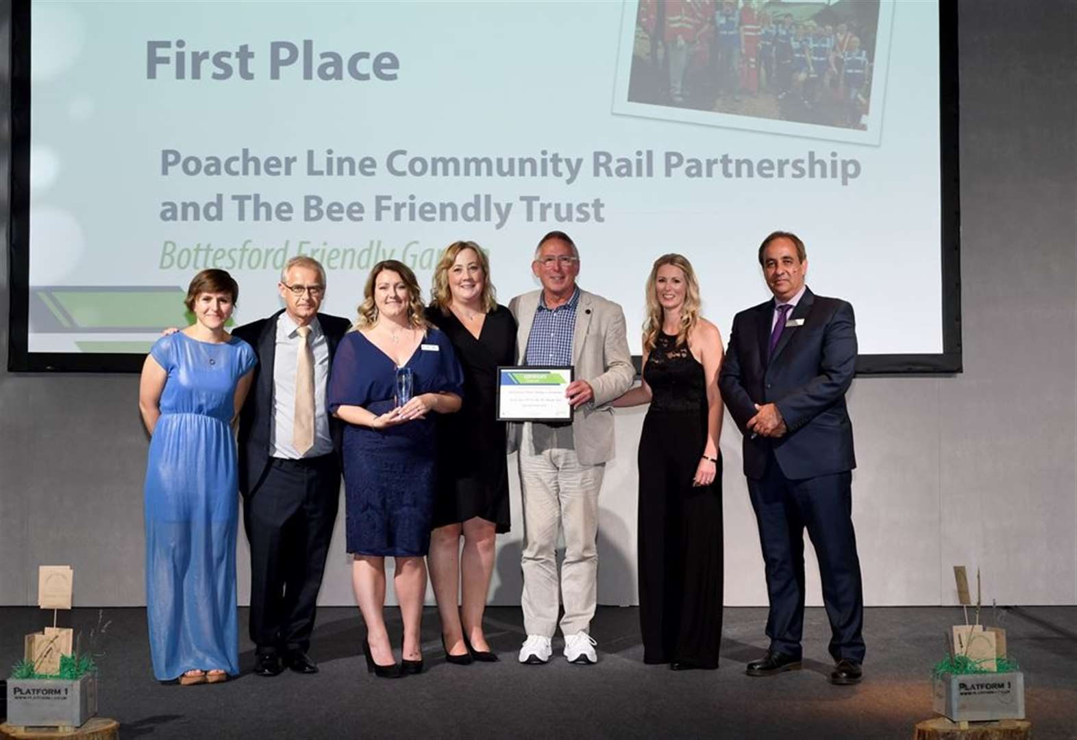 Bottesford 'Friendly Garden' wins first place at national rail awards