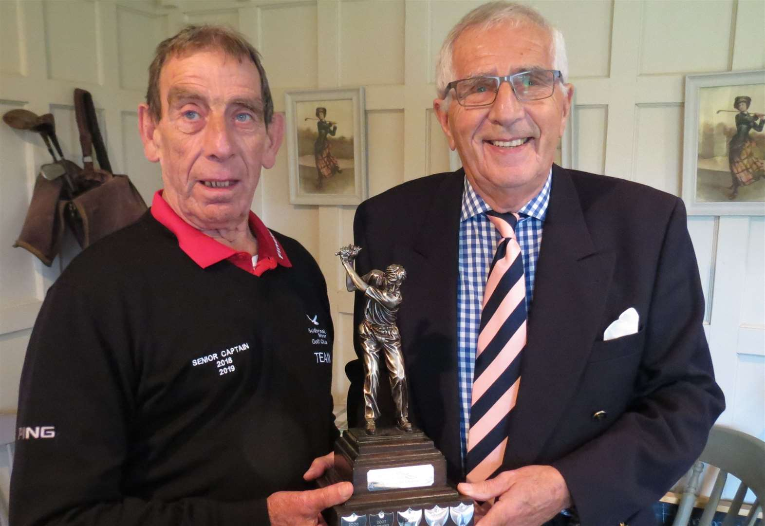 Octagenarian triumphs in Sudbrook Moor seniors trophy competition