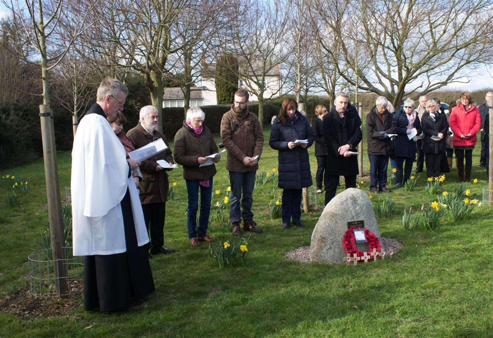 Villagers honour the fallen at new war memorial in Barkestone-le-Vale