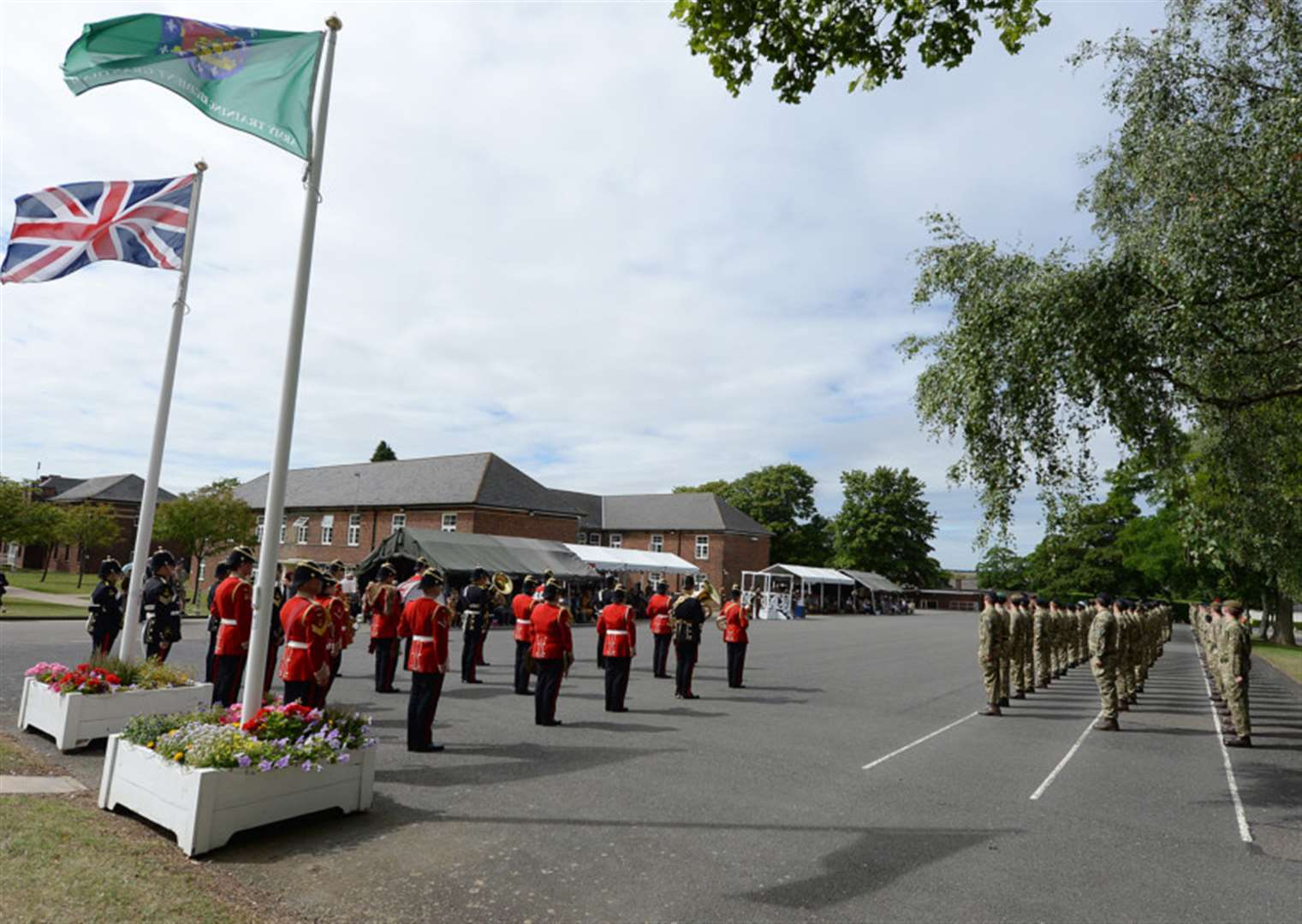 New recruits enjoy their big day with friends and family at Grantham's Prince William of Gloucester Barracks