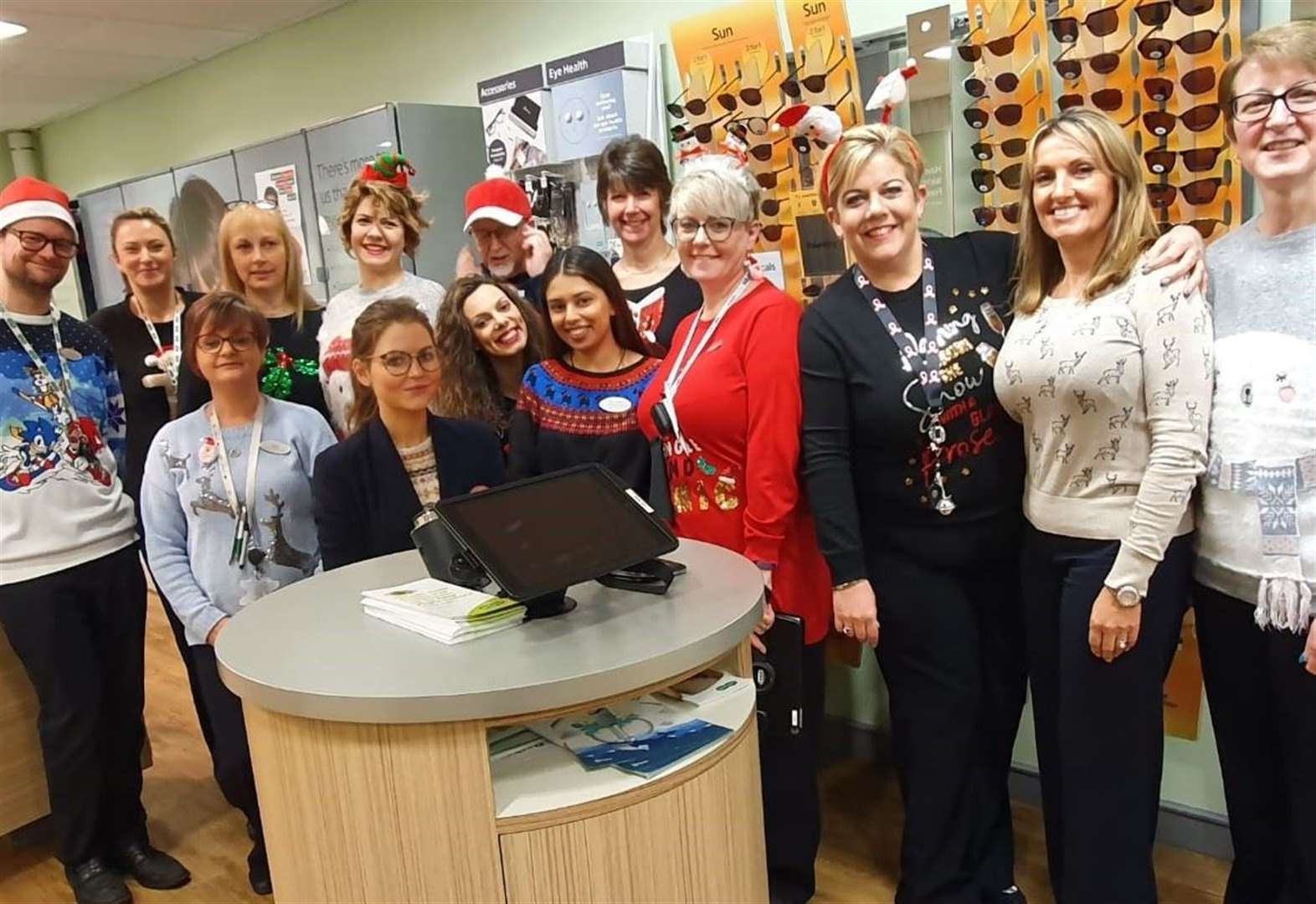 Christmas spirit raises money for a good cause at Grantham opticians