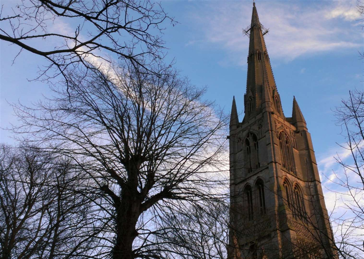 Sing along with carols on the hour at St Wulfram's in Grantham