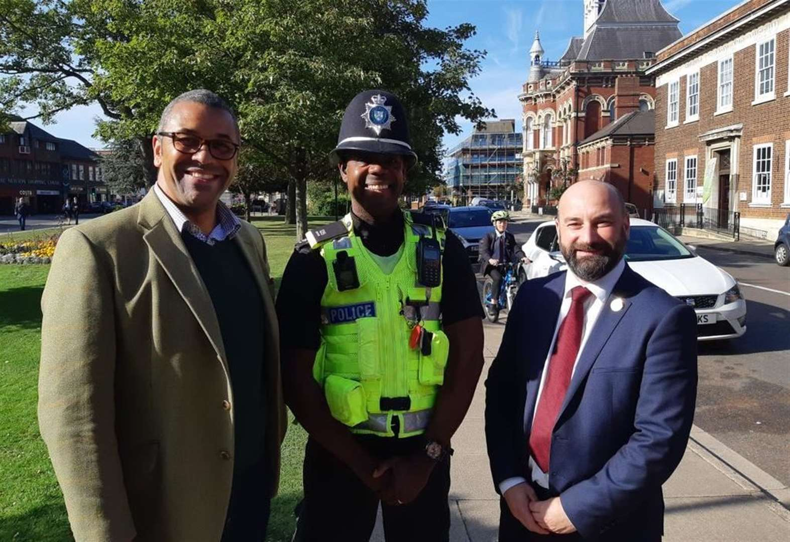 Focus is on policing as Tory Party chairman walks streets of Grantham