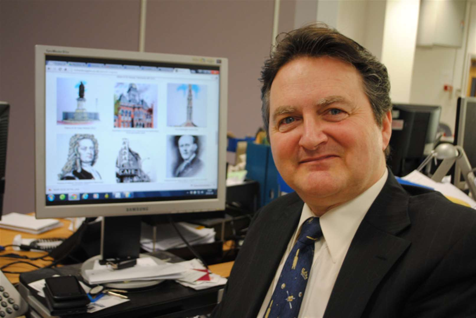 Grantham artist and designer Richard draws on 50 years of experience for new website