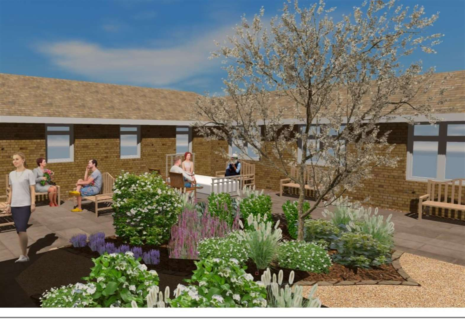 A total of £15,000 raised to make Grantham Hospital garden become a reality