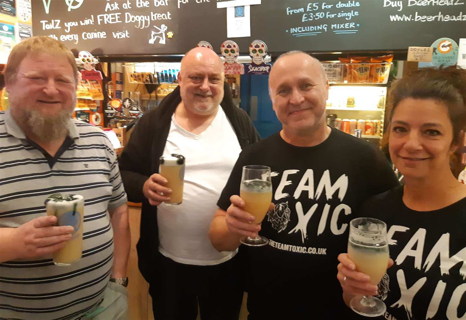 Beerheadz of Grantham among first to serve unique 'reverse Guinness' white stout