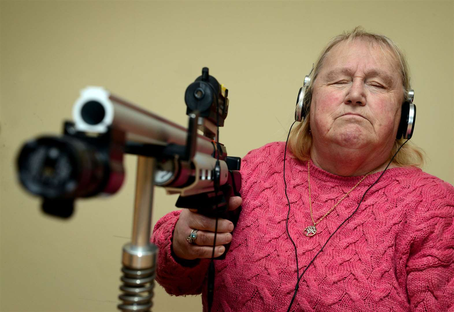 Blind Grantham woman wins national shooting competition