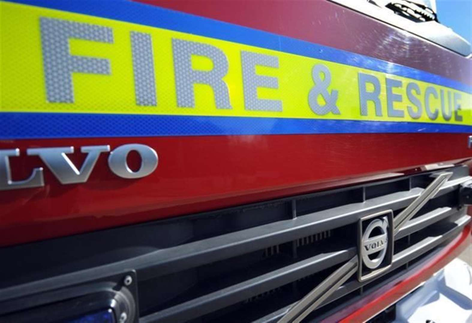 Grantham firefighters tackle garden shed fire
