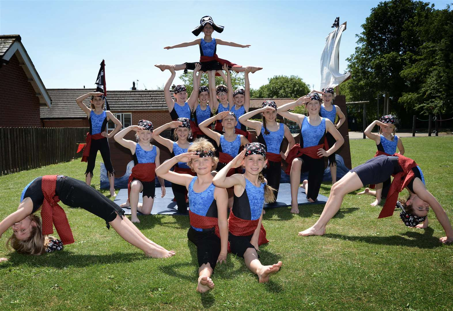 Ahoy there! Allington gymnast 'pirates' perform at fete