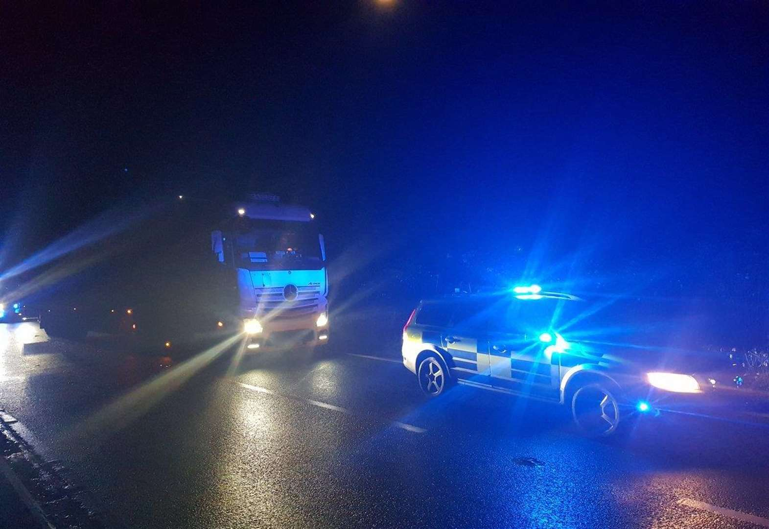 'Lucky escape' for motorists as lorry stopped driving wrong way up A1 at Grantham