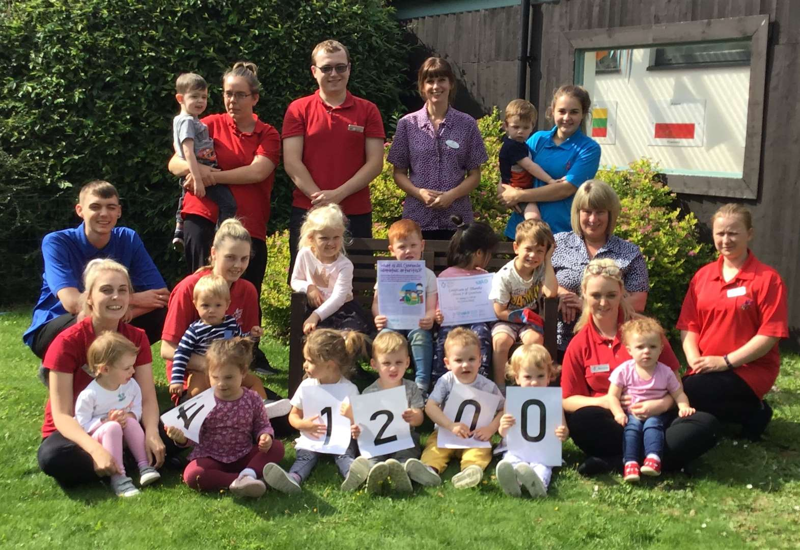 Grantham nursery raises funds for children with arthritis