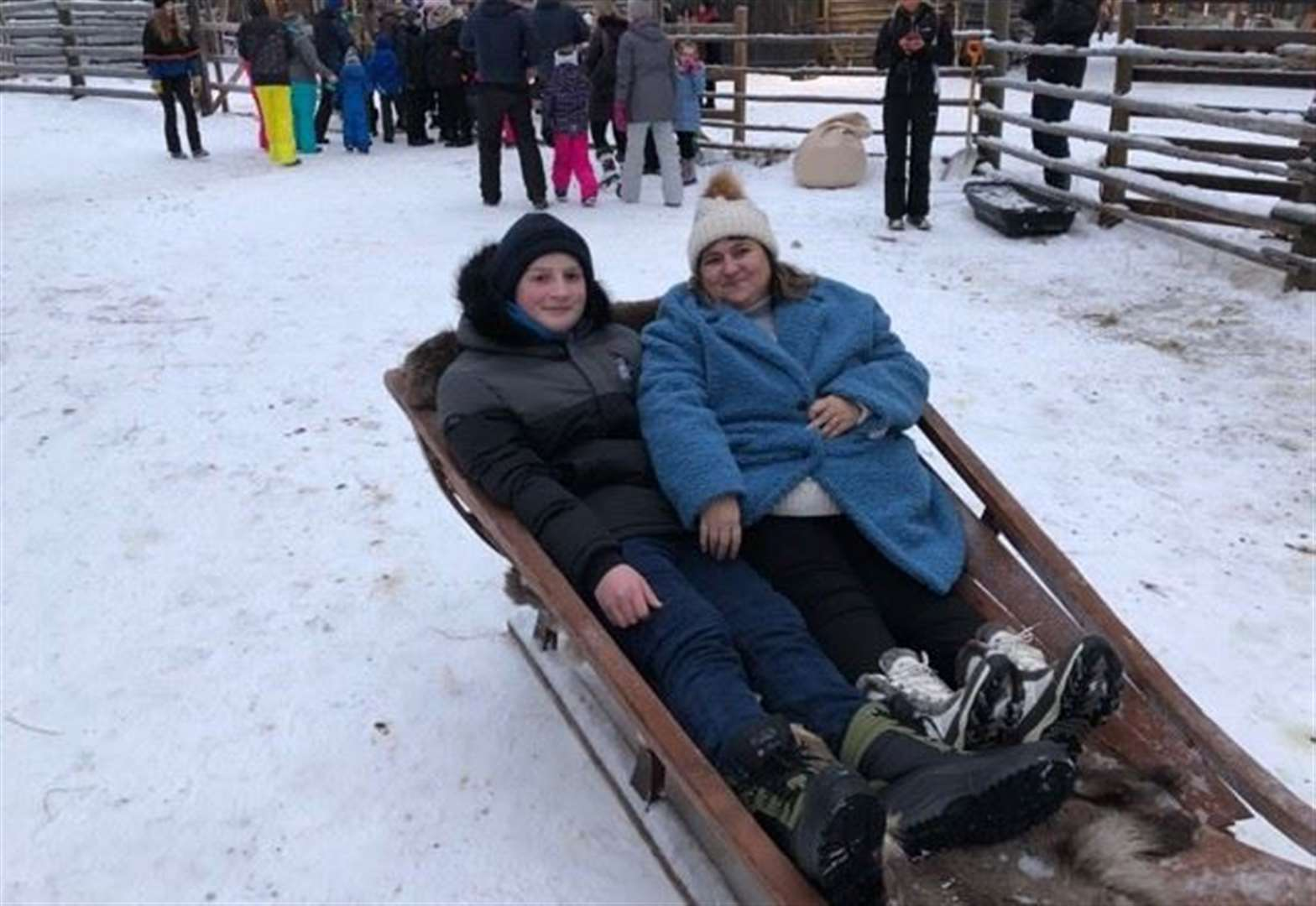 Grantham cancer patient Charlie, 14, enjoys trip of a lifetime to Lapland with stars from Emmerdale