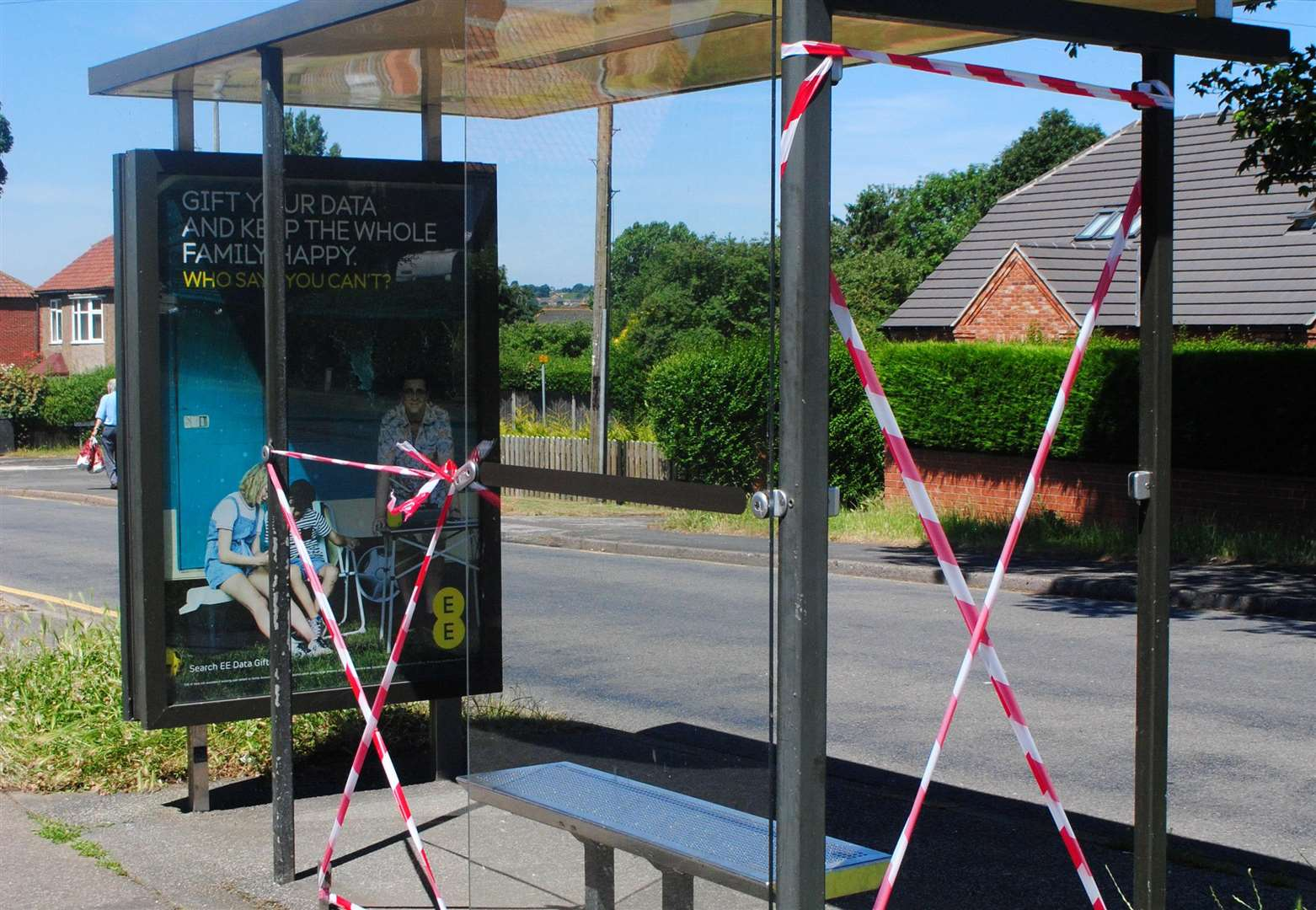 Vandals target two bus shelters on same road