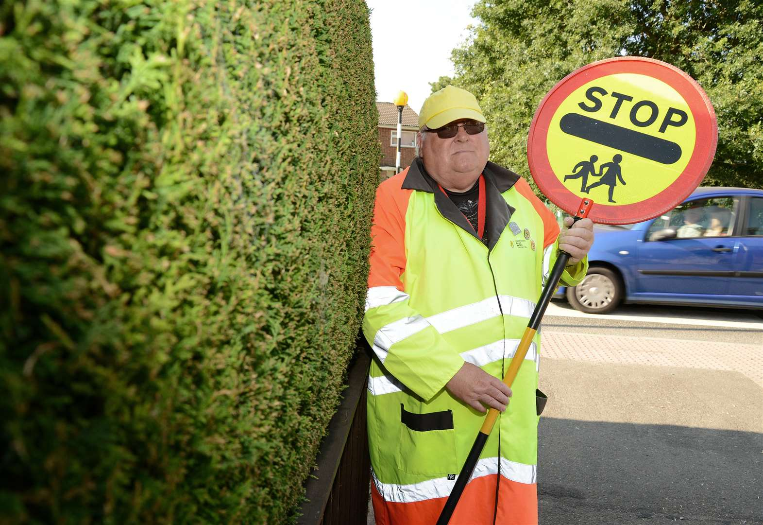 Grantham 'Lollipop man' marks 10 years