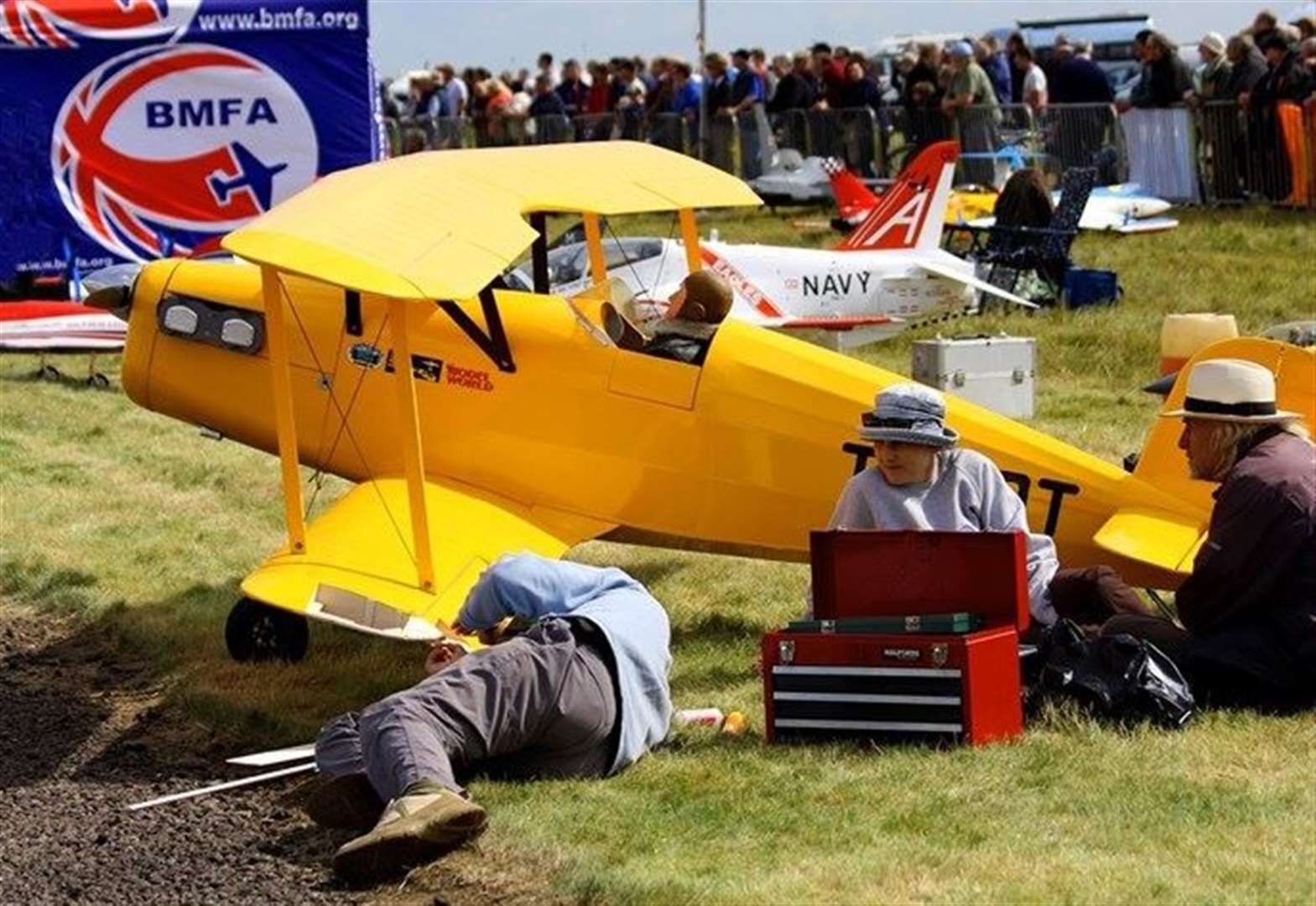 Model planes will take to the skies at RAF Barkston Heath this weekend