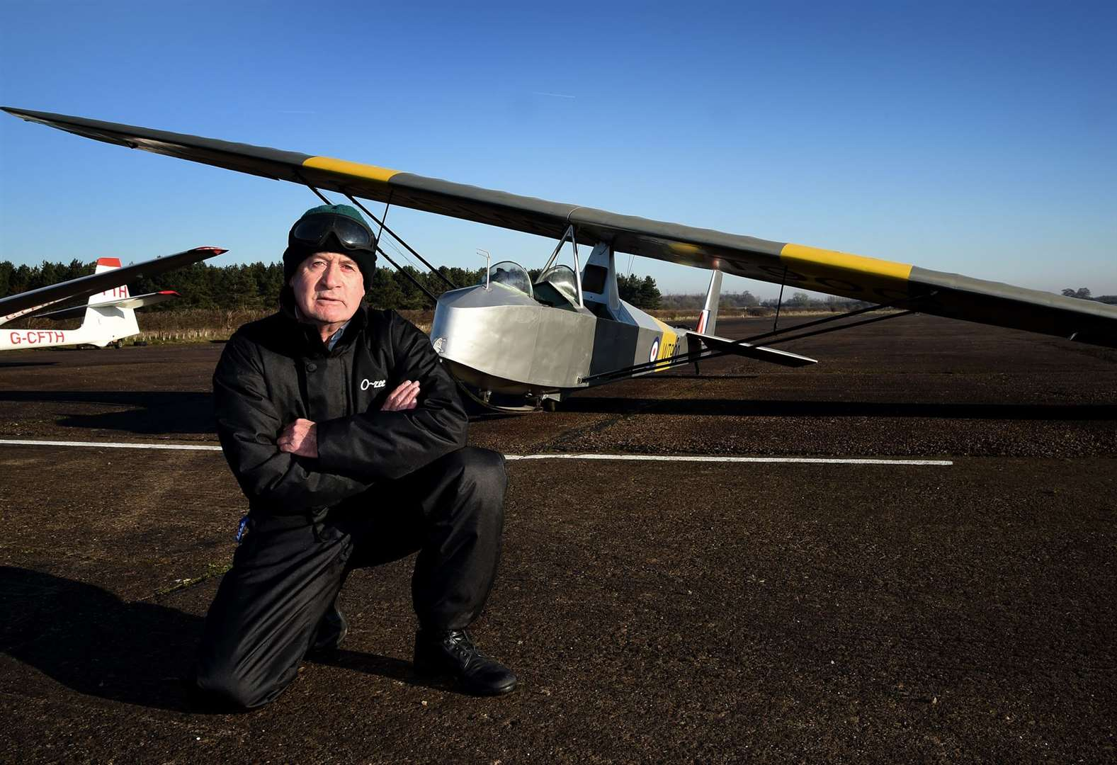 Glider pilot Roy takes to the air 50 years after first solo flight